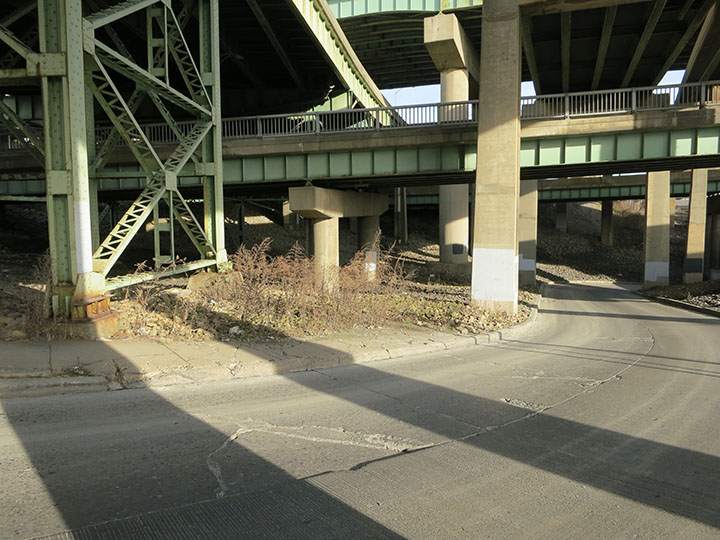 End of Sidewalk on Brady Street
